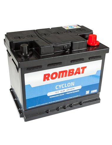 ROMBAT CYCLON 12V 55Ah 450A - Borna Normala (dreapta +)