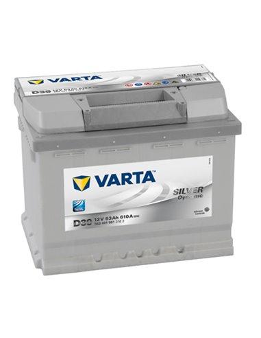 VARTA Silver Dynamic 12V 63Ah 610A - Borna Inversa (stanga +)